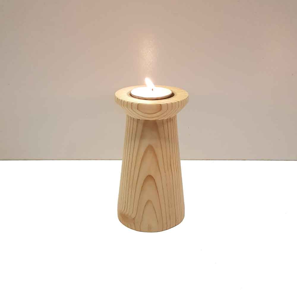 جاشمعی چوبی طرح ایکیا رنگ چوب