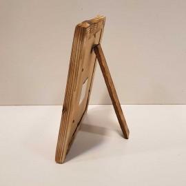 قاب عکس چوبی رنگ سوخته