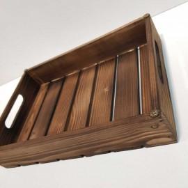 سینی چوبی متوسط رنگ تیره