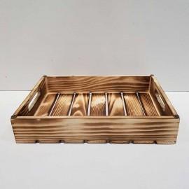 سینی چوبی متوسط رنگ سوخته