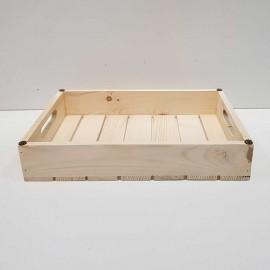سینی چوبی متوسط رنگ چوب