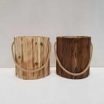 سطل زباله چوبی بزرگ بدون درب