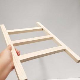 استند حوله مدل نردبان رنگ چوب