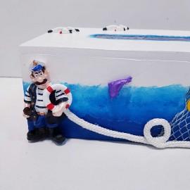 جادستمال کاغذی دریایی طرح کاپیتان