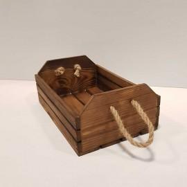 جعبه چوبی بزرگ رنگ قهوه ای