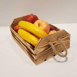 جعبه چوبی بزرگ رنگ سوخته
