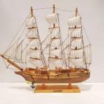 کشتی 4بادبانه متوسط رنگ چوب