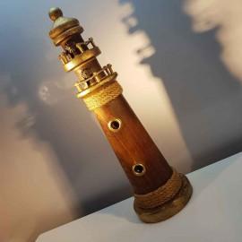 فانوس دریایی چوبی بزرگ رنگ چوب لوکه