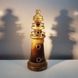 فانوس دریایی چوبی متوسط رنگ چوب لوکه