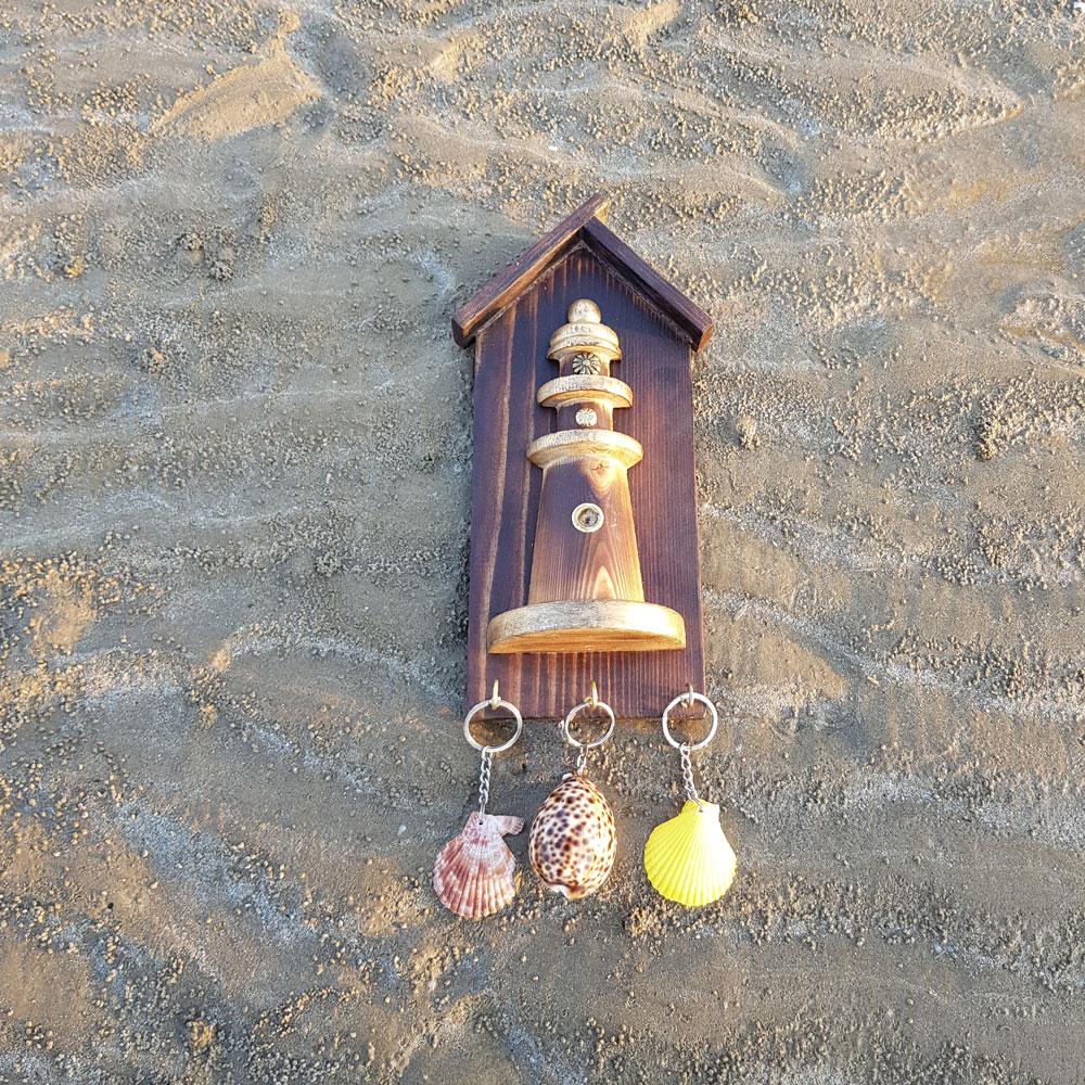 جاکلیدی فانوس دریایی چوبی کوچک