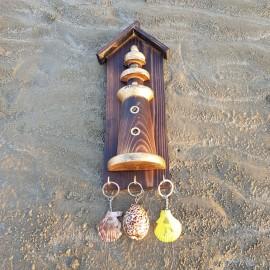 جاکلیدی فانوس دریایی چوبی متوسط