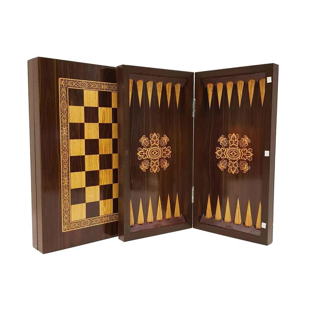 صفحه شطرنج و تخته نرد 40سانت طرح گردو 2