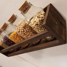 باکس دیواری چوبی رنگ قهوه ای 50 سانتی