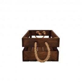 جعبه چوبی متوسط قهوه ای