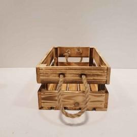 جعبه چوبی متوسط رنگ سوخته