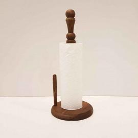 جا دستمال رولی چوبی بزرگ رنگ قهوه ای