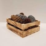 جعبه چوبی طرح ایکیا مدل h 10 رنگ سوخته