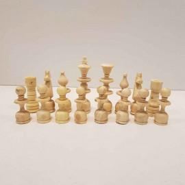 مهره شطرنج چوبی دستساز اعلا متوسط رنگ فندقی