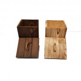 بانکه چوبی چهارگوش درب دار