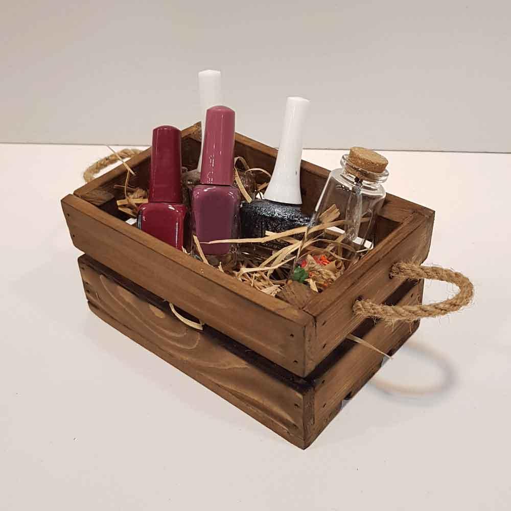 جعبه چوبی مینی رنگ قهوه ای