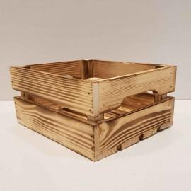 جعبه چوبی کوچک طرح ایکیا مدل h10 رنگ سوخته
