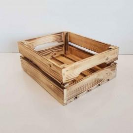 جعبه چوبی متوسط طرح ایکیا مدل h10 رنگ سوخته