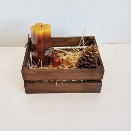 جعبه چوبی متوسط طرح ایکیا مدل h10 رنگ قهوه ای