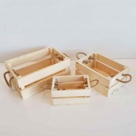 جعبه چوبی دسته طنابی سه عددی