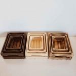 جعبه چوبی سه عددی طرح ایکیا