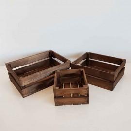 جعبه چوبی سه عدد..