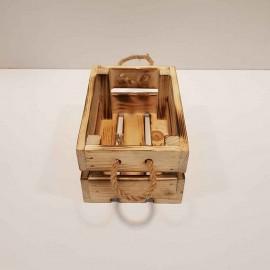 جعبه چوبی مینی رنگ سوخته