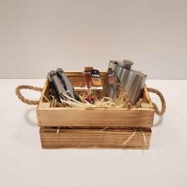 جعبه چوبی کوچک رنگ سوخته