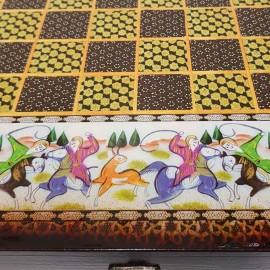 صفحه شطرنج وتخته نرد 50طرح چوگان مشکی