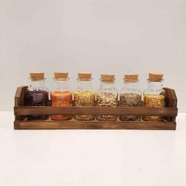 باکس چوبی رومیزی رنگ قهوه ای
