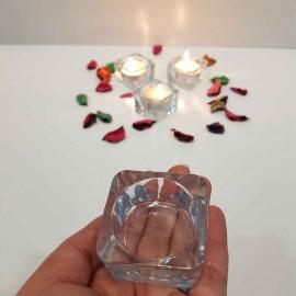جاشمعی شیشه ای طرح ایکیا کوچک