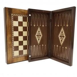 صفحه شطرنج و تخته نرد 40سانت طرح گردو 3