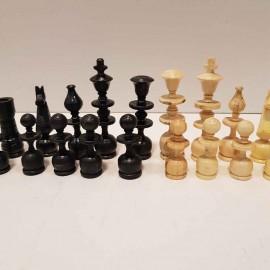 مهره شطرنج چوبی دستساز اعلا متوسط رنگ مشکی