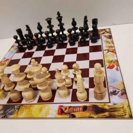 صفحه شطرنج فلکس با مهره شطرنج اعلا مشکی