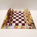 صفحه شطرنج فلکس با مهره شطرنج اعلا فندقی