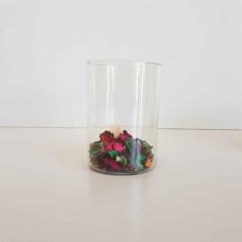 گلدان شیشه ای 15 سانتی میخک