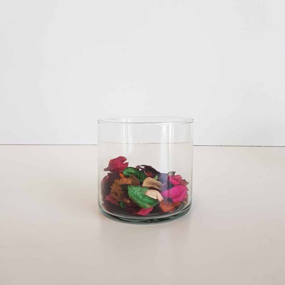 گلدان شیشه ای 10 سانتی میخک