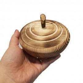قندان چوبی رنگ سوخته