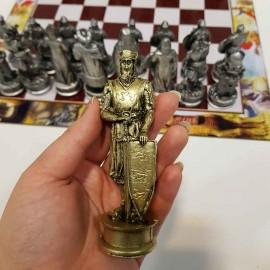 مهره شطرنج پلی استر و صفحه شطرنج فلکس 40