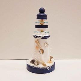 فانوس دریایی چوبی کوچک سفید لوکه