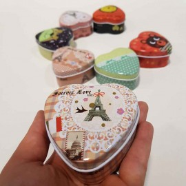 جعبه فلزی قلب کوچک