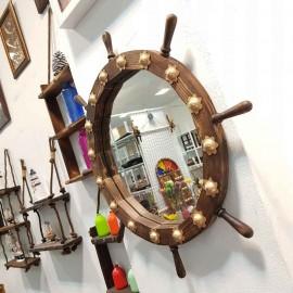 آینه سکان چوبی