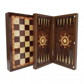 صفحه شطرنج و تخته نرد 40سانت طرح گردو