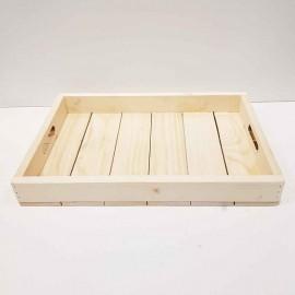 سینی چوبی بزرگ رنگ چوب