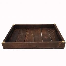 سینی چوبی بزرگ رنگ تیره