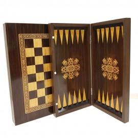 صفحه شطرنج و تخته نرد طرح گردو سفارشی